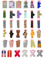 Wholesale chevron tights - 60pairs Lot Chevron Baby Leg Warmer Children Skull Leg Warmers Christmas infant leggings Tights Halloween Adult Arm warmers Zig-zag Legging