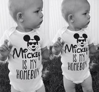 Wholesale Children Next - Infant Baby Cotton Romper Kids Letters Short Sleeve Toddlers Climb boutique Clothes Child Overalls Rompers one-piece next cartoon outfit