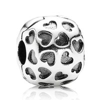 Wholesale Over 925 Sterling Silver - Authentic 925 Sterling Silver Bead Charm Head Over Heels Clip Lock Stopper Beads Fit Women Pandora Bracelet Bangle Diy Jewelry HK3361