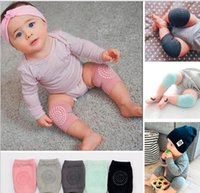 Wholesale infant crawling pads online - Baby soft Crawling Safety Kneecap Toddler Girls Boys combed cotton Protector with glue Knee Pads Infant Leg Warmer colors choose