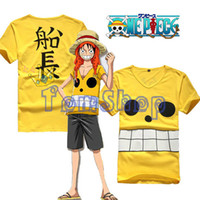 Wholesale Monkey D Luffy T Shirts - Wholesale- Anime One Piece Film Z Monkey D Luffy Captain Cosplay Costume Men Women T-shirt Summer Casual Tops Tee Shirts Free Shipping