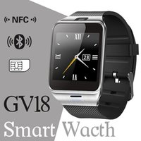 Wholesale Gsm Camera For Home - 2016 GV18 1.5 inch NFC Smart Watch With touch Screen 1.3MCamera Bluetooth SIM GSM Phone Call Waterproof for Android Phone DZ09