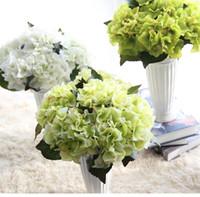Wholesale White Flower Arrangements For Home - 50pcs MOQ 8colors New Multi Color Realistic Spring Artificial Big Hydrangea Silk Flower Arrangement Wholesale Home Table Room for decoration
