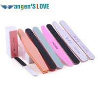 Wholesale Filing Plastic Box - Wholesale- 11pcs set Nail File Set With Plastic Box Nail Buffers Durable Grit Block Manicure Buffer Tools For Professional Nail Art