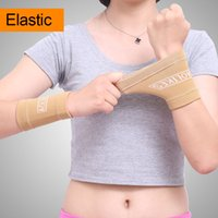 Wholesale Wrist Support For Basketball - Sweat Wrist Support Strap Brace Protect Wristband Unisex Bracers Basketball Volleyball Tennis Badminton Sports Protection For Women