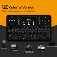 Wholesale Keyboard Remote Controller For Pc - MX3 Portable 2.4G Wireless Remote Control mini Keyboard Controller Air Mouse for Smart rockchip Android TV box mini PC