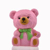 elma ayıları toptan satış-Yeni 1 Adet / grup 12 cm jumbo Ilmek ayı Squishy Yavaş Yükselen Perakende Ambalaj Sevimli Sapanlar Kek Krem Kokulu Çocuk Oyuncak