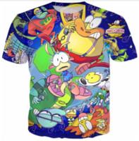 Wholesale modern men shorts - Newest Fashion Mens Womans Rockos Modern Life T-Shirt Summer Style Funny Unisex 3D Print Casual T-Shirt AA342