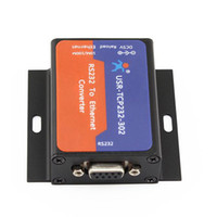 Wholesale Server Ip - Wholesale- USR-TCP232-302 Free Shipping Serial RS232 to Ethernet TCP IP Server DHCP DNS Q18041
