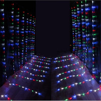 Wholesale led waterfall curtain lights - Led Waterfall String Curtain Light 6m*3m 640 Leds Water Flow Christmas Wedding Party Holiday Decoration Fairy String Lights Holiday lights