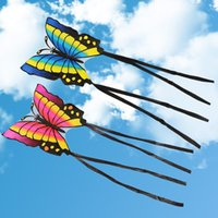 Wholesale Kite Tails - Wholesale- Children's Butterfly Kite Easy to Fly Single Line Kite Tail 1.5M Outdoor Funny Sports Toy Gift Funny Sport Outdoor Playing Toys