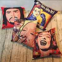 Wholesale marilyn monroe cushion covers - Marilyn Monroe Throw Pillow Cases Cushion Cover Pillowcase Linen Cotton Square Pillow Case Pillowslip Home sofa
