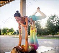 ballettverband großhandel-Farbverlauf Ballett-Infinite Turnout Leggings abnehmen hohe Taille Yoga Capris Hosen Tanz Geist Bandage dünne Strumpfhosen Frauen