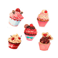 Wholesale Resin Cupcakes - Random Mixed 30Pcs Sweet Candy Cupcake Resin Planar Flatback Cabochons Ice Cream Decoden Craft For DIY Girls Decorative GIFT