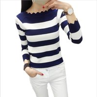 Frauen Casual Herbst Striped Crochet Pullover Mode Strickpullover Pullover Top Rebecas Mujer Frauen Winterkleidung