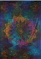 Wholesale Woven Table Mats - Indian Mandala Tapestry Hippie Home Decorative Wall Hanging Tapestries Boho Beach Towel Yoga Mat Bedspread Table Cloth 200x148cm