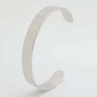 Wholesale Pc Buyer - bangle heart 50 PCS LOT Wholesale Men's Silver Tome Solid 316L Stainless Steel Blank Cuff Bangle For Buyer Own Engraving