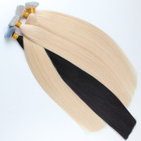 Wholesale European Hair Extentions - ELIBESS Virign human tape in hair 2.5g piece 40pcs lot Most Popular Double Drawn Thick Bottom 100 Human Hair tape in hair extentions