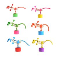 Wholesale 3d Puzzles Dinosaurs - Wholesale- Kid Wooden Developmental Dancing Standing Rocking Dinosaur Handcrafted Toy