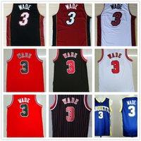 Wholesale Basketball Mix Order - Wholesale Cheap Mens #3 Dwyane Wade Jersey 2017 New Red White Black Stitched Dwyane Wade Basketball Jerseys Uniform Mix Order