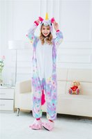 Wholesale Women Pajamas Xl - Adult Rainbow Unicorn Onesie Animal Pajamas Unsix One Piece Cosplay Halloween Costumes Cartoon Pyjamas Women Sleepwear Homewear New Style