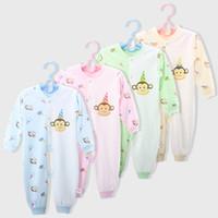frosch baby kleidung großhandel-Großhandel Tier Baby Strampler Wärmer Baby Jungen Strampler Neugeborenen Overall Outfits Baby Mädchen Kleidung Affe Frosch Bee Body Pyjama Strampler