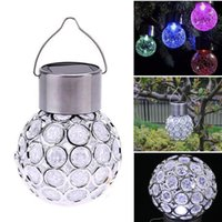 outdoor lighted peacock - Color Changing Solar Powered Ball Lights Garden Outdoor Landscape LED Lamp Lawn Patio Walkway Lights Peacock Eye Solar Hanging Light Lantern
