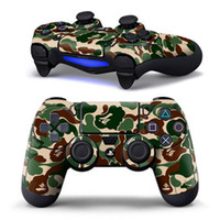 Wholesale New Skin Logos - New Arrival PS4 Controller Designer Skin for Sony PlayStation 4 DualShock Wireless Controller Sticker Camouflage green logo