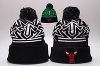 Wholesale Plain Football Tops - 2017 Fashion Knitted Football Winter hats for men women Embroidery Bulls Beanies winter ALL Teams warm beanies gorro Basketball Bonnet Cap