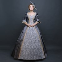 Wholesale Pink Women S Dance Costumes - Customized Elegant Medieval Renaissance Rococo Baroque Dress Mary Antoinette Dance Evening Party Clothing