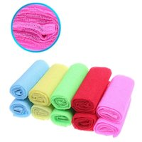 Wholesale Sanitary Gloves - Wholesale-Practical Soft Bath Shower Body Puff Exfoliating Cleaning Nylon Wash Cloth Towel