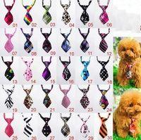 Wholesale Dog Gentleman - 1 7jn Necktie For Pet Tie Multicolor Striped Dogs And Cats Ties Children Available Gentleman Stars Rainbow Leopard Print Small Neckties