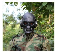 Wholesale Tactical Hood Terminator Full Face Maske CS Wargame Cosplay Full Face Skeleton Safety Silver Steel Wargame Army Field Game Halloween Party M