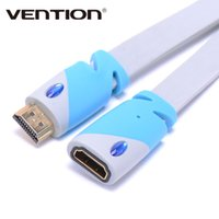 Wholesale Hdmi For Tablet Pc - Vention HDMI Male to Female Extension Cable Adapter Gold Plated 1m 2m 3m HDMI Extension Extender Adaptor 4V 3D 1080P for PC HD