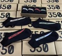 lagerboxen zum verkauf großhandel-Heißer Verkauf 350 V2 Socke mit Box 4 Farbe SPLY - 350 Männer Frauen Socken Laufen / Basketball Sport Socken Auf Lager Schnelles Verschiffen