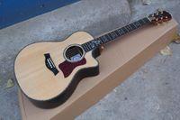 Wholesale Maple Acoustic - HOT Wholesale - Classic Musical instruments Ty 916CE Ebony flower fret inlay Burlywood 916CE Acoustic Guitar