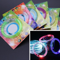 Wholesale Bracelet Kids Boys - LED bracelets Party supplies Kids LED Lighted Toys Gifts for woman Acrylic bracelet light bracelet girls boys fashion gifts 1361
