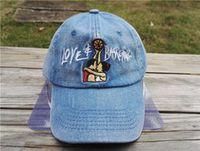 Wholesale Basketball Strapback - fashion Denim Love & Basketball cap rose baseball caps Snapback hats for men women sports hip hop strapback brand hat bone gorra top quality