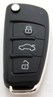 ingrosso pulsante di qualità remoto-KL84-1 qualità normale Nuovo 3 pulsanti chiave a distanza pieghevole Shell per Audi A2 A3 A4 A6 A6L A8 TT