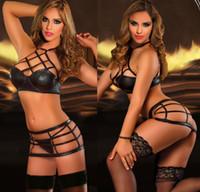 Wholesale Hot Hen Party - Hot xotic Sexy lingerie PVC Nightwear Hen Fetish Stripper clubwear Party mini dress 11446 one size S-L