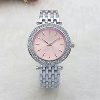 Wholesale Best Women Watches Color - New Dress Ladies Watches Luxury brand Full Stainless Steel band Diamond Quartz Wrist watch For Women Female best Gift clocks Montre Homme