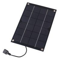 Wholesale solar panel usb output resale online - 5pcs W V Semi Flexible Solar Panel Monocrystalline Solar Cell with USB Output Regulator for Charging Smart Phone Power Bank