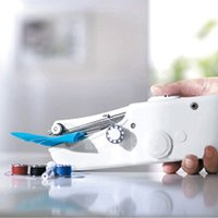 Wholesale Mini Handheld Sewing Machine Portable Needlework Cordless Household Handy Stitch Electric Clothes Fabric Sewing Tools