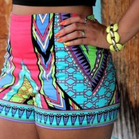 Wholesale Aztec Xl - Women Summer Geometric Aztec Prints Stretchy Swimming Shorts Casual Hawaii Style Tight High Waist Beach Pants