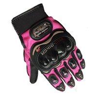 Wholesale Wholesale Women S Fashion Gloves - Wholesale- Pro Biker Fashion Motorcycle Gloves Full Finger Men Women Motos Sports Motorbike Motocross Protective Gear Racing Glove M - XXL