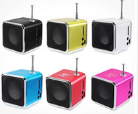 Music Stereo Loudspeaker Bluetwo TD-V26 Mini Speaker Portable Digital LCD Sound Micro SD TF FM Radio for Laptop Mobile Phone MP3