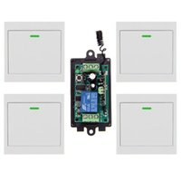 Wholesale DC V V V CH CH RF Wireless Remote Control Switch System Receiver X Wall Panel Transmitter MHZ T