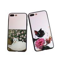 Wholesale Cute Design Plastic Bag - For Iphone 7 Plus Full Protection TPU PC Back Case Smile Carrio Cute Cat Design For Iphone 6S 6 5 5S Opp Bag