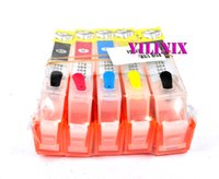 Wholesale Photosmart Cartridge - Free shipping new 564 564xl with chip refillable cartridge Compatible For Photosmart 5520 5522 5525 6510 Printer Accessories