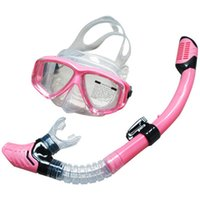 Wholesale diving mask SBART Water Sports Training Snorkeling Swimming Glasses Equipment Anti Fog Silicone Scuba Diving Mask Goggles Full dry Snorkel